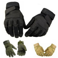 High Quingity 1Pair 3 Colors Outdoor Sports Full Finger Gloves Tactical Shooting Cycling Racing Riding Gloves fk673157