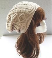 Brand 2014 Fashion Winter Hat Men Beanie Knitted Casual Caps skullies bone Twist Hats For Women Chapeu Feminine Gorro Touca Cap