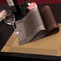 30cmx45cm Dish Mat For Kitchen Cushion Pad pvc Heat Pad Waterproof Dining Table Mats Coffee Dish Plate holder Bar