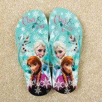 Frozen Shoes Girls Sandals Princess Elsa Children Beach Sandals Frozen Flip Flops kids shoes for girl 7pairs/lot elsa shoes