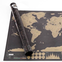 Scratch Map Deluxe Edition With Scratch Off Layer Visual Travel Journal World Map For  Educatioin