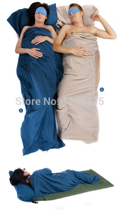 Naturehike 210 * 75cm Ultra-light Portable Single Cotton Sleeping Bag Liner Outdoor Camping Travel Blue Flaxen NH15S012-D(China (Mainland))