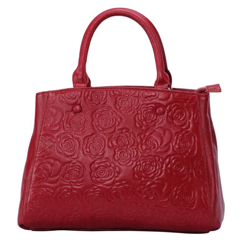 Explosion models fashion high quality Crossbody handbag bag genuine leather India rose pattern shoulder bag tote bag hg0212(China (Mainland))
