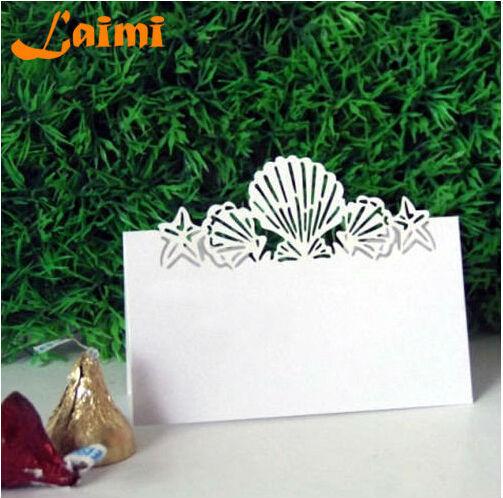 10X pierce Laser Cut papel Shell artesanato titular do cartão do lugar do casamento detalhes no cartão do convite grátis frete(China (Mainland))