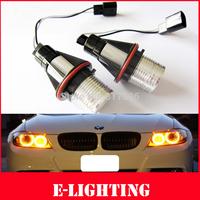 3000K Yellow 2X5W 10W LED Marker Angel Eyes Halo Ring Bulb Light for BMW E39 M5 E87 E60 E63 E64 E65 E66 X3 X5 E53