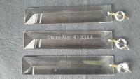 5PCS LARGE SPEAR CRYSTAL VTG 6'' CHANDELIER LAMP PART GLASS PRISMS