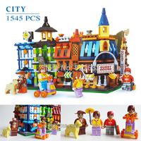 Hot Toy Ausini Building Blocks City Loveing Town Guset House Assembling Blocks Toy for Children Model Building Christmas Gift