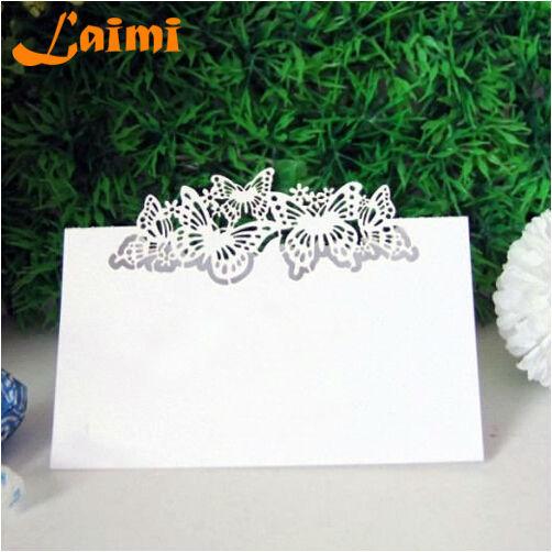 10X pierce Laser Cut Paper Crafts borboleta casamento convida decoração Favor grátis frete(China (Mainland))