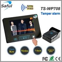 multi apartments wireless video door phone intercom system with remote door release
