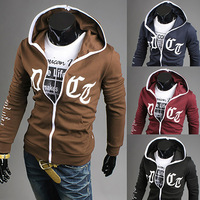 2014 New Hot Autumn Men's Fashion Sports Hoodies Sweatshirts Top Brand Men's Clothing Cotton Korean Slim Style WY36