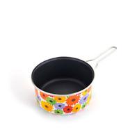 20cm Universal Cooking Pot Colorful Flowes Enamel Nonstick Pan Milk Cooker Free Shipping