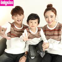 2014 new sudaderas kids brand children clothing baby girl/ mom /boy / dad warm winter clothes dress fleece sweater jacket family