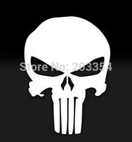 1 Pcs Car Styling The Punisher Skull Vinyl Decal Car Window Sticker Marvel Comics Motorcycle Sticker