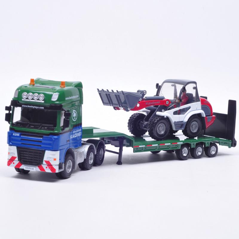 KaiDiWei 1:50 truck simulation model alloy car children's toys Tractor-trailer transport truck birthday present(China (Mainland))