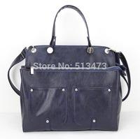 H065 (dark blue) ,lady hand bag messenger bag handbags fashion,PU,Interior Structure:3 small pockets,Free shipping