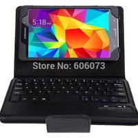 Free Shipping Detachable Wireless Bluetooth Keyboard Case for Samsung Galaxy Tab 4 7.0 P900 Black