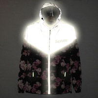 New  red rose super cool reflective windproof sweater men who put hip-hop long-sleeve clothes