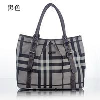 2014 new brand B logo classic england style women plaid handbag shoulder messenger tote bags birthday gift