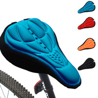 New Cycling 3D Silicone Soft Thick Gel Cushion Cover Mountain Bike Bicycle Saddle Seat Pad 4 Colors