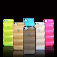 Newest Design Body Armor Series Soft TPU Clear Back Case For iPhone 6 4.7 inch, 8 color, 100pcs/lot by DHL Freeship