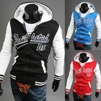 2014 New Hot Autumn Men's Fashion Stitching design Sports Hoodies Sweatshirts Top Brand Men's Clothing Cotton Korean Slim Style