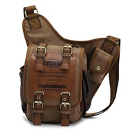 KAUKKO brand retro vintage canvas bag men messenger bag man cross body bags