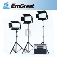 FALCON EYES 3000K-7000K 100W LED Photography Light Kit (3x Studio Light+3x Studio Light Stand+1x Aluminum Case+1x Carrying Bag)