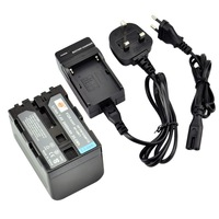 DSTE NP-QM71D Battery and EU&UK Charger for Sony CCD-TRV128, CCD-TRV138, CCD-TRV150, CCD-TRV228, CCD-TRV250, CCD-TRV270