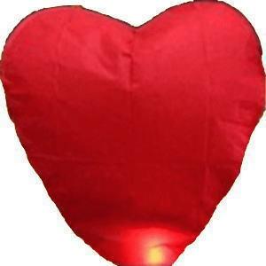 Free shipping 10pcs/lot 4 color heart sky lantern flying paper lantern for choice(Hong Kong)