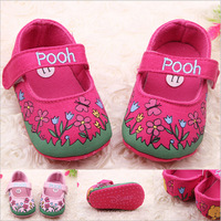 For 0-18 Months New Cute Non-Slip Shoes Baby Toddler Shoes Print  First Walkers Princess Girls Dress Shoes Free Shipping