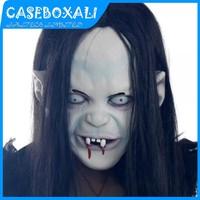 Novelty Prop Artificial Hair Rubber Cap Sadako Pullover Horror Mask Halloween Scary Costume Cosplay Party Masquerade Mask