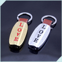5pcs/lot Love Letters Leather Button With Keychain Portable Inflatable Smoking Butane Gas Flame Cigarette Lighter For Gifts