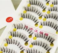 Free Shipping Japanese Natural Thick False Eyelashes/Artistic Human Hair Best Fake Eyelash Extensions Supplies 129/20 pairs1lot