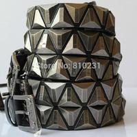 Famous brand design Punk Rhombus Metal Decoration PURE Cowhide belt for men, fashion Vintage rivet belt 1:1Quality