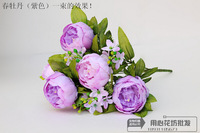 1Xbunch  Artificial flower silk  peony flowers for DIY home wedding party decorativesimulation flowers wholesale