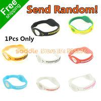 (Send Random!!!)Silicone Bracelet Hologram Bracelets Sport Bracelet Fashion Bracelet Free Shipping!!!