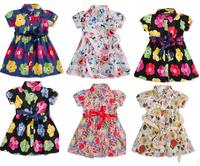 2014 new wholesale girls flower dress children dress children summer dress 6 color  good quality dresses