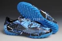 2014 Transparent bottom soccer shoes broken nails football shoes indoor football boots