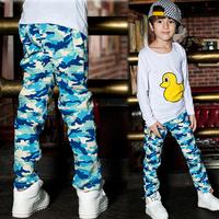 New Style Boy Camouflage Pattern Pants Cotton Long Trousers Bottoms Pants