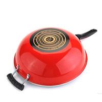 Hot Sale 32cm Non-stick Frying Pan No Lampblack Wok Cooker Special Enamel  Free Shipping