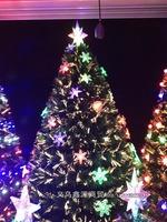 Wholesale Supply of fiber optic 180cmChristmas tree LED light tree decorations venue decoration props