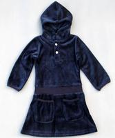 2014 new wholesale girls fleece thick dres with hat dress children dress children sutunm dress  good quality dresses