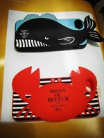 Animal 3D Crab Whale Phone Case For Apple iphone 4 4S 5 5S Crabe Baleine Soft Silicone Cover Free Shipping