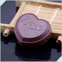 10pcs/lot Metal Love Chocolate Shape Portable Inflatable Smoking Butane Gas Flame Cigarette Lighter For Gifts