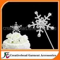 Free Shipping Rhinestone Snowflake Cake Topper, Diamante Cake Picks Snowflake, Party Cake toppers, Cake Accessory