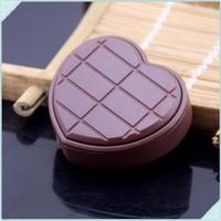 20pcs/lot Metal Love Chocolate Shape Portable Inflatable Smoking Butane Gas Flame Cigarette Lighter For Gifts