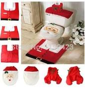 3pcs/set merry christmas decoration santa claus ornaments ornament papai noel new year navidad baubles toilet lid mat supplies