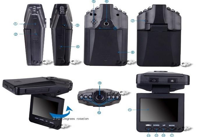 H198 Car dvr Car Camera 120 Degree 2.5 LCD Night Vision 640*480 Car Driving Recorder F198 Hot 50Pcs/Lot Free DHL(China (Mainland))
