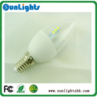 Factory price E14 2835 SMD led candle lights cold, warm white bulb CE UL AC110V to 240v lamp 2 year warrant