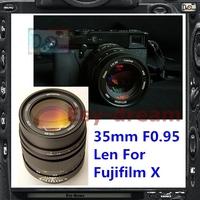 Black Genuine New Mitakon ZHONGYI 35mm F0.95 Manual Len For Fujifilm Fuji XT1 X-PRO1s XPRO1 XE1 XE2 XM1 XA1 Camera PA273